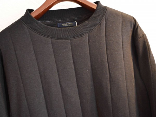 Quilt Sweat 【BLACK】 / modemdesign