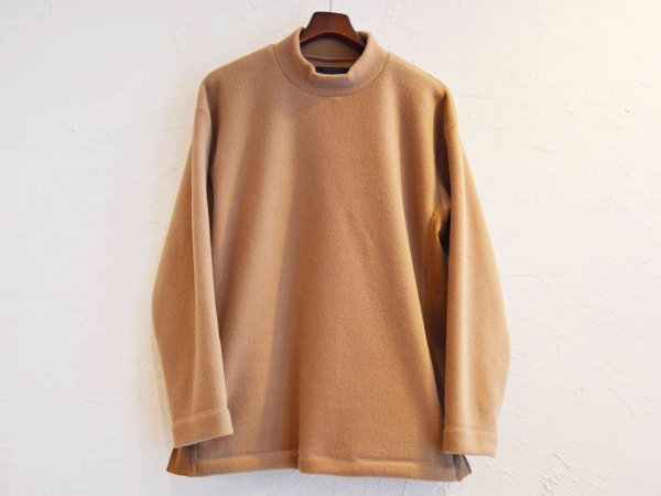 Anti Pilling Mock Neck Freece 【BEIGE】 / modemdesign モデムデザイン