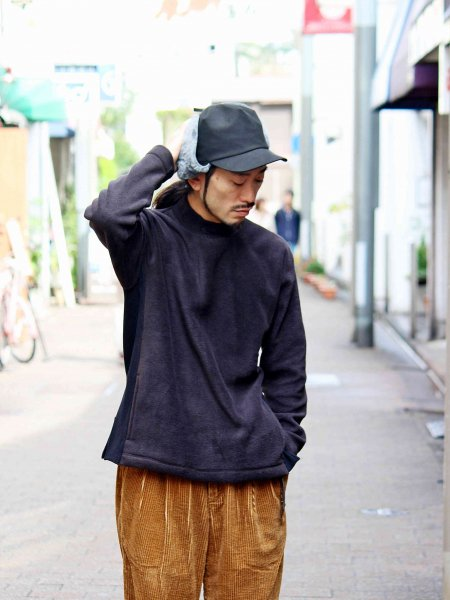 Anti Pilling Mock Neck Freece 【BLACK】 / modemdesign モデムデザイン