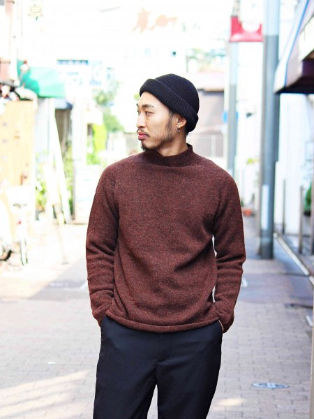 L/S MOCK NECK 【Coffee】 / NOR'EASTERLY
