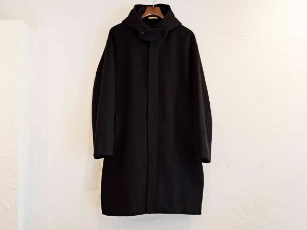 ENGLAND LAM WOOL OVER COAT 【BLACK】 / LAMOND