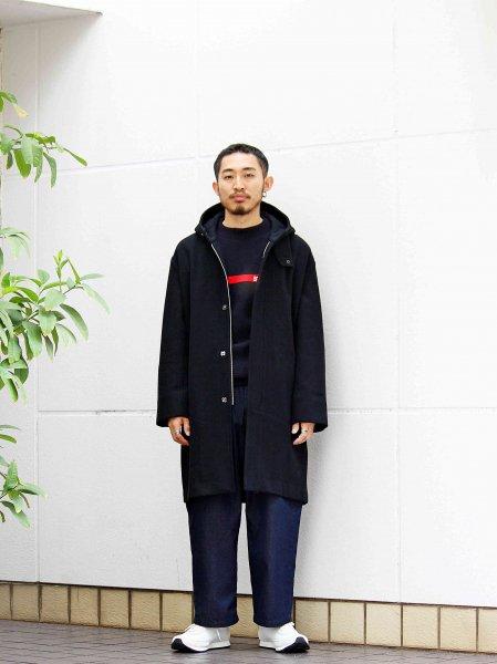 ENGLAND LAM WOOL OVER COAT 【BLACK】 / LAMOND ラモンド