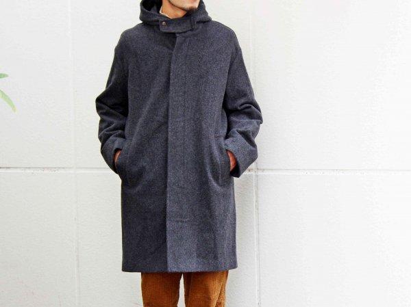 ENGLAND LAM WOOL OVER COAT 【CHARCOAL】 / LAMOND ラモンド