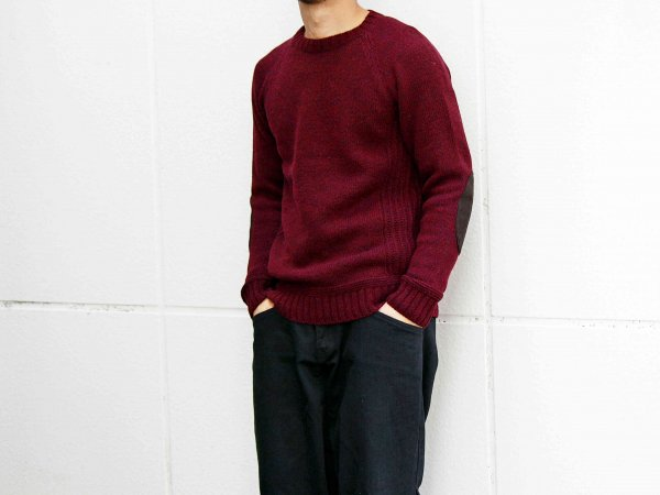 LANDNOAH Sweter 【Wine】 / soglia <img class='new_mark_img2' src='//img.shop-pro.jp/img/new/icons1.gif' style='border:none;display:inline;margin:0px;padding:0px;width:auto;' />