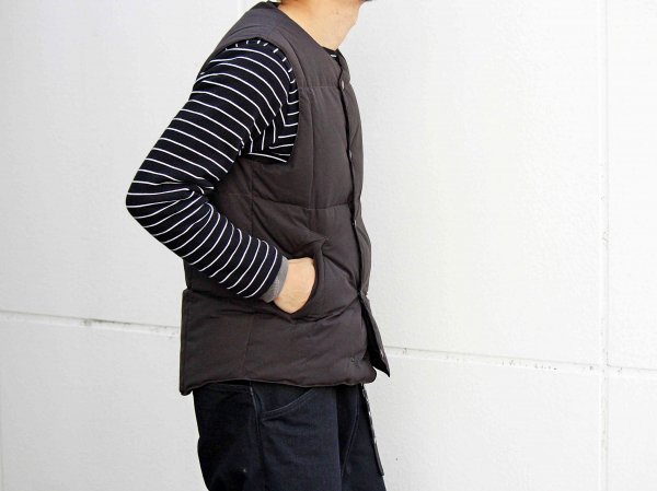 C/P/N PEACH DOUBLE DOWN VEST 【BLACK】 / LAMOND ラモンド