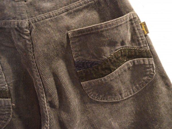 RIPPLE PANTS(CORDUROY) 【CHARCOAL】 / Nasngwam. ナスングワム