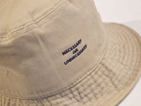 BBQ HAT 【BEIGE】 / NECESSARY or UNNECESSARY
