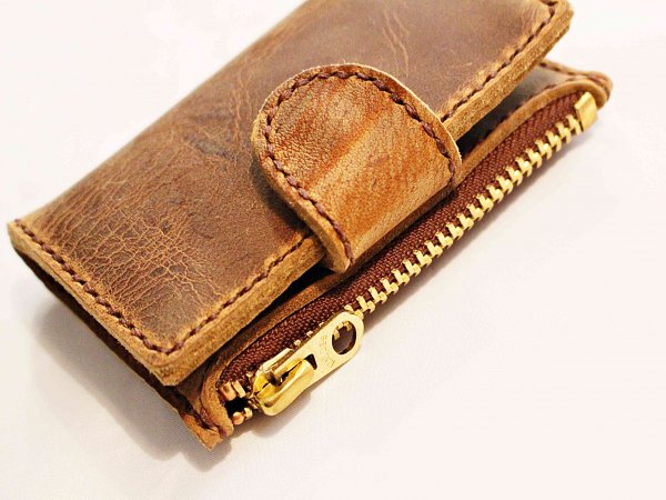 KEY CASE (KUDU)  【BROWN】 / liberta