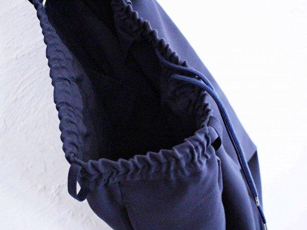 Highdensity Satin pants 【NAVY】 / LAMOND ラモンド