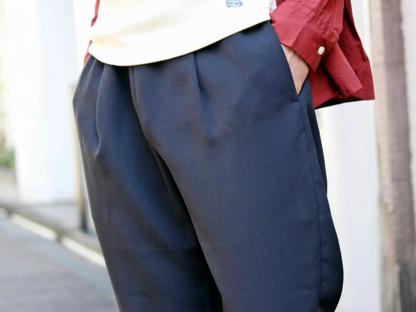Highdensity Satin pants 【NAVY】 / LAMOND