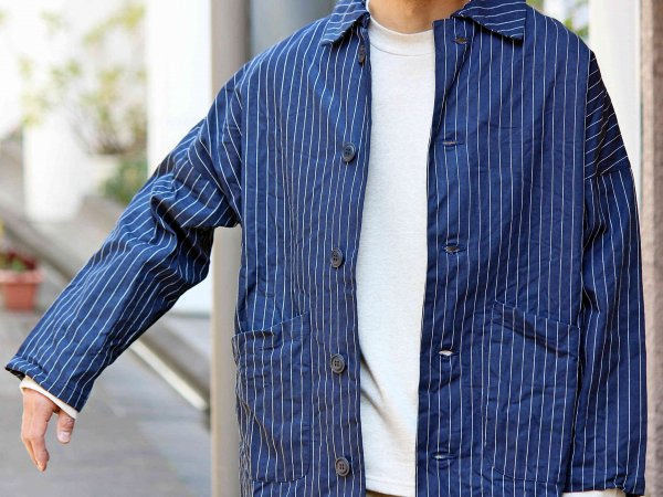 DUSTER COAT 【German Stripe】 / YARMO