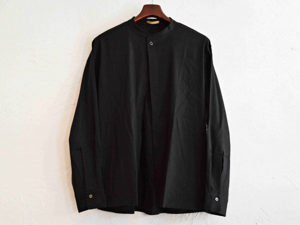 LINEN SHIRT CARDIGAN JKT 【BLACK】 / LAMOND ラモンド