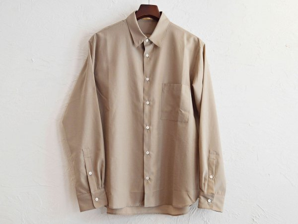 TUMBLER SOFT SHIRT 【BEIGE】 / LAMOND ラモンド