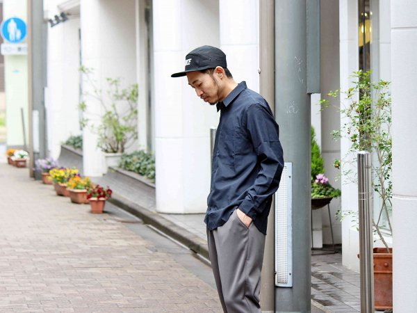 TUMBLER SOFT SHIRT 【NAVY】 / LAMOND