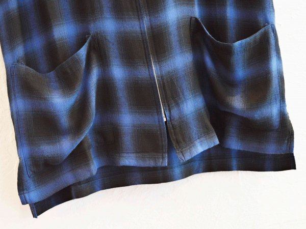 ELLIS S/S JK(CHECK) 【BLUE】 / Nasngwam. ナスングワム