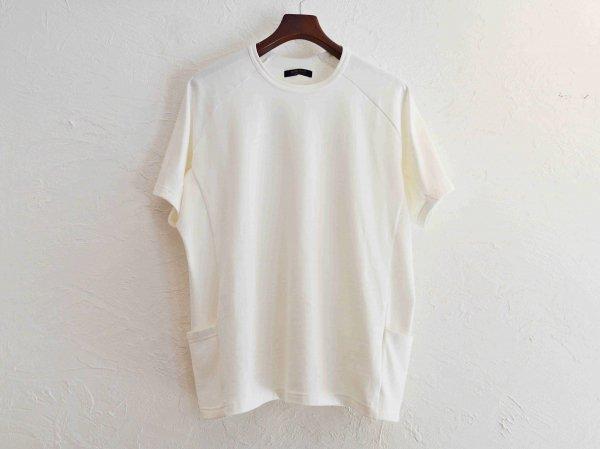 SIDE POCKET TEE 【off white】 / modemdesign