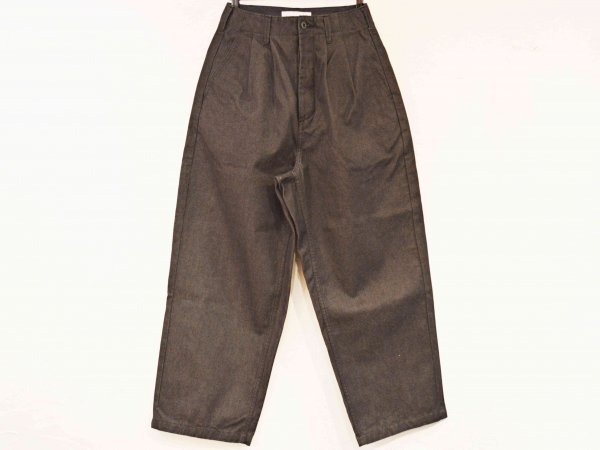 WIDE TUCK TROUSERS 【BLACK】 / TEXTURE WE MADE