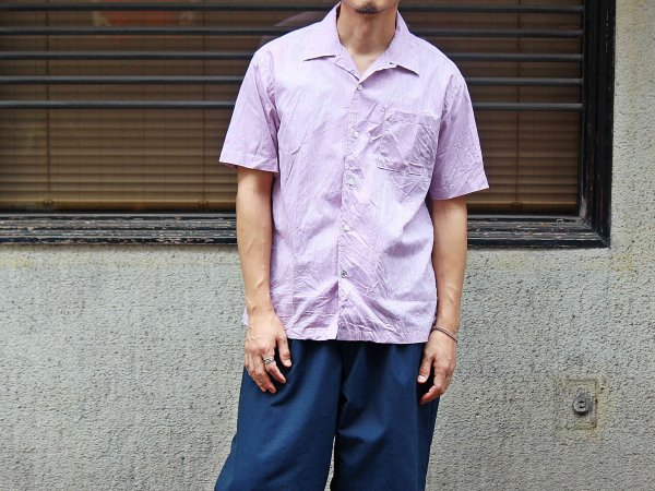 Open Collar Shirts 【PURPLE】 / modemdesign<img class='new_mark_img2' src='//img.shop-pro.jp/img/new/icons1.gif' style='border:none;display:inline;margin:0px;padding:0px;width:auto;' />
