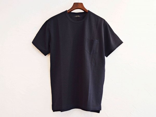 coolmax S/S Pocket TEE 【NAVY】 / modemdesign