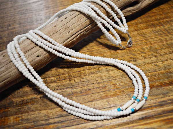 TERRACED NECKLACE 【WHITE】 / NASNGWAM