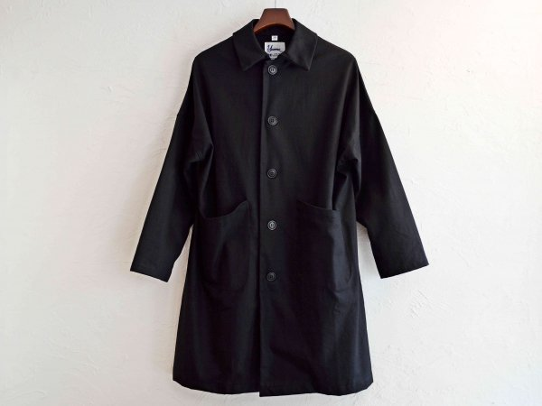 DUSTER COAT 【BLACK】 / YARMO<img class='new_mark_img2' src='//img.shop-pro.jp/img/new/icons1.gif' style='border:none;display:inline;margin:0px;padding:0px;width:auto;' />