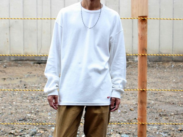 HABIT L/S TEE 【WHITE】 / ionoi