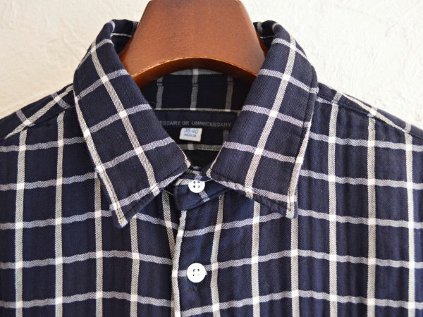 TWO POCKET SHIRTS 【NAVY】 / necessary or unnecessary