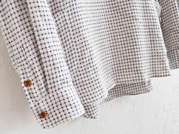 Gardening Check Shirts 【WHITE】 / modemdesign