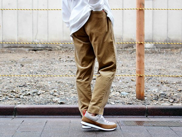 GALLIANO PANTS(CORDUROY) 【BEIGE】 / Nasngwam. ナスングワム