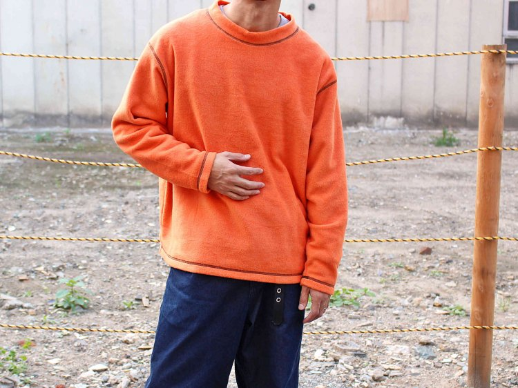 STITCH MOCK FLEECE 【ORANGE】 / ionoi