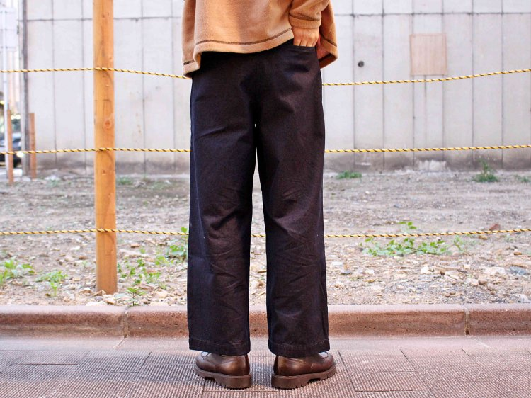 WIDE CINCH BACK TROUSERS 【INDIGO】  / TEXTURE WE MADE