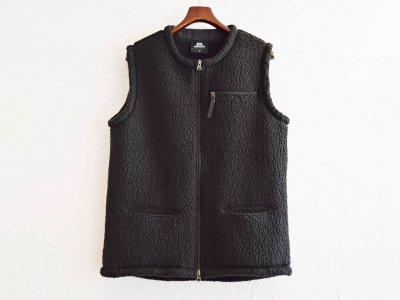 Pile Fleece Vest 【BLACK】 / MOUNTAIN EQUIPMENT