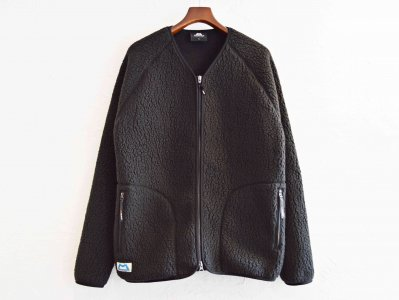 Pile Fleece Cardigan 【BLACK】 / MOUNTAIN EQUIPMENT
