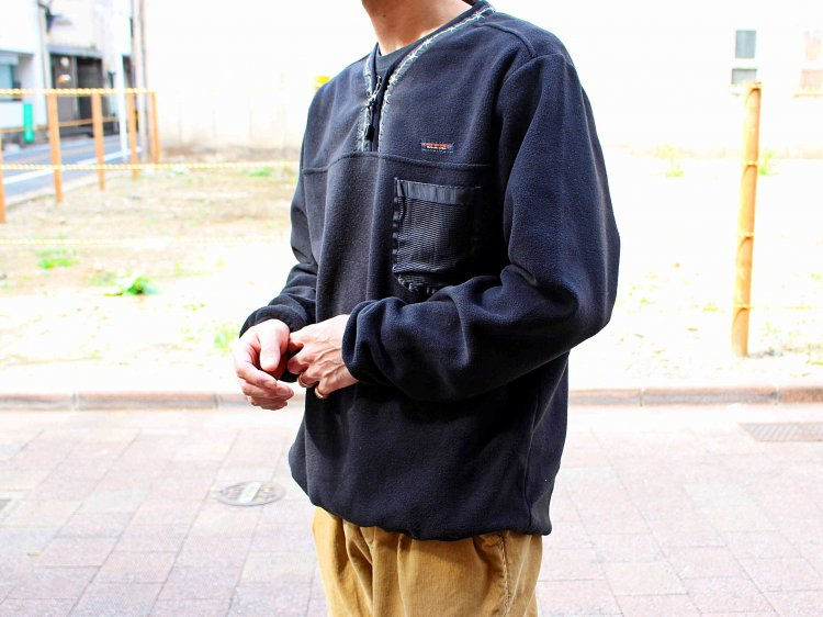 POLAR FLEECE H/ZIP PULLOVER 【BLACK】 / LAST CHANCE