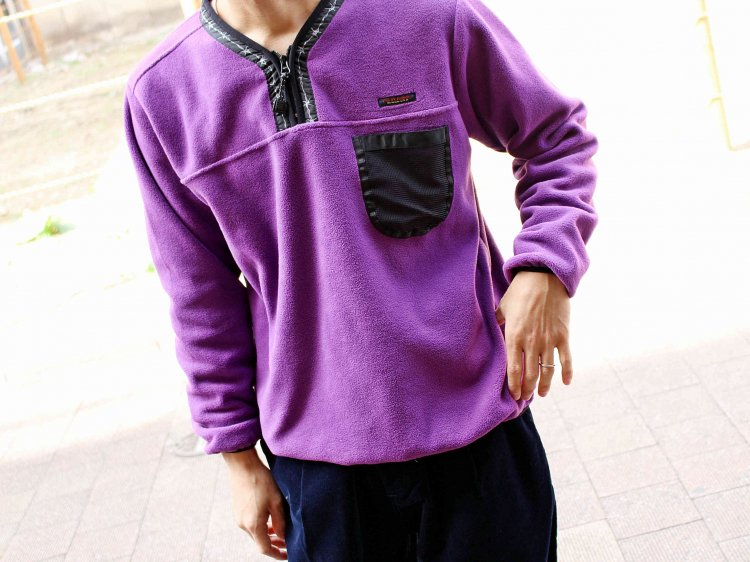 POLAR FLEECE H/ZIP PULLOVER 【PURPLE】 / LAST CHANCE