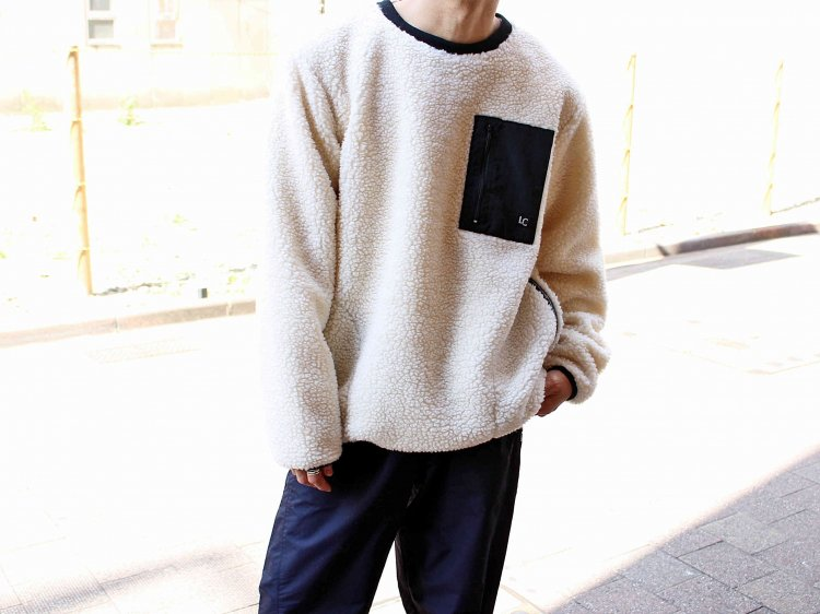 RETRO BOA FLEECE CREW 【NATULAL】 / LAST CHANCE
