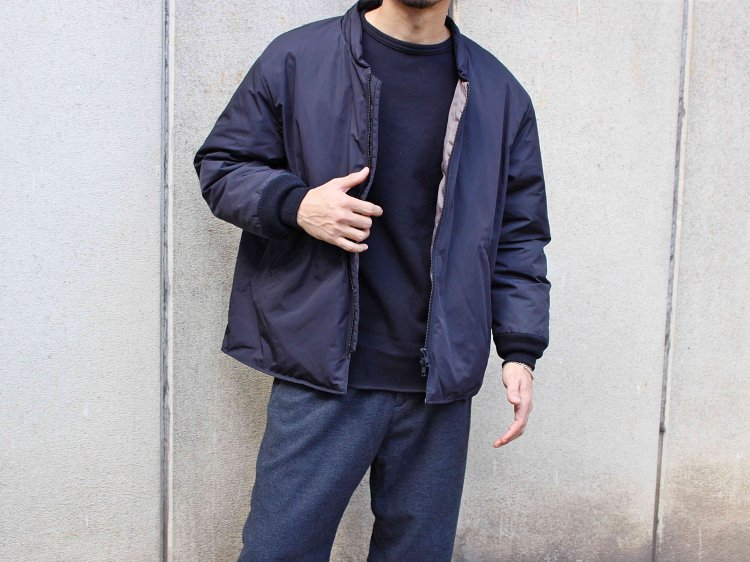 DOWN OVER BLOUSON 【BLACK】 / LAMOND ラモンド<img class='new_mark_img2' src='//img.shop-pro.jp/img/new/icons1.gif' style='border:none;display:inline;margin:0px;padding:0px;width:auto;' />
