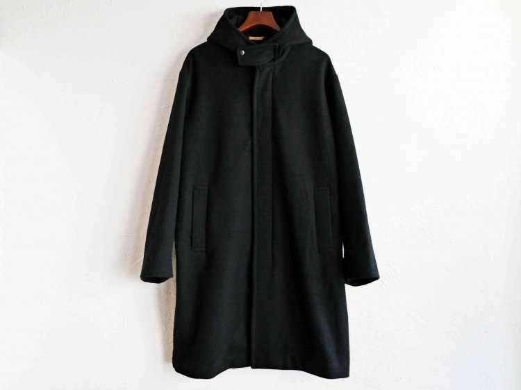 ENGLAND LAM WOOL OVER COAT 【BLACK】 / LAMOND ラモンド