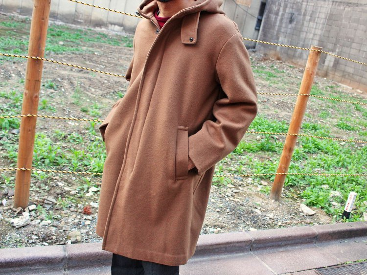 ENGLAND LAM WOOL OVER COAT 【CAMEL】 / LAMOND ラモンド<img class='new_mark_img2' src='https://img.shop-pro.jp/img/new/icons1.gif' style='border:none;display:inline;margin:0px;padding:0px;width:auto;' />