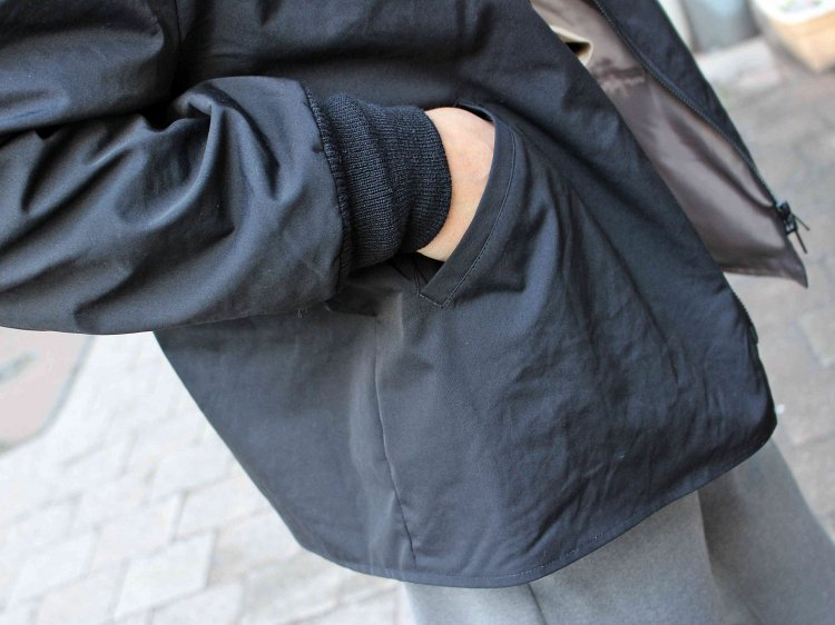 STRECH WIDE BLOUSON 【BLACK】 / LAMOND
