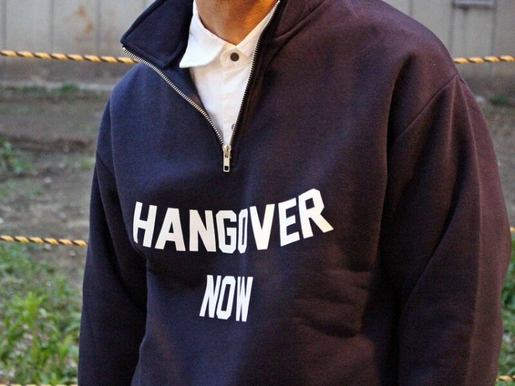 Haif Zip SWEAT 【NAVY】 / modemdesign