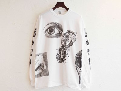 SEE ANTS & HANDS L/S TEE 【WHITE】 / MC ESCHER<img class='new_mark_img2' src='https://img.shop-pro.jp/img/new/icons1.gif' style='border:none;display:inline;margin:0px;padding:0px;width:auto;' />