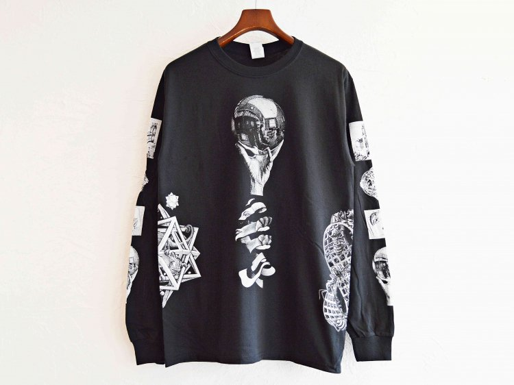 REFLECTION MUL TIART L/S TEE 【BLACK】 / MC ESCHER