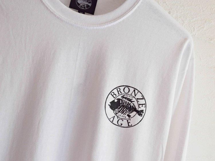 L/S TEE (SKULL FISH) 【WHITE】 / BRONZE AGE