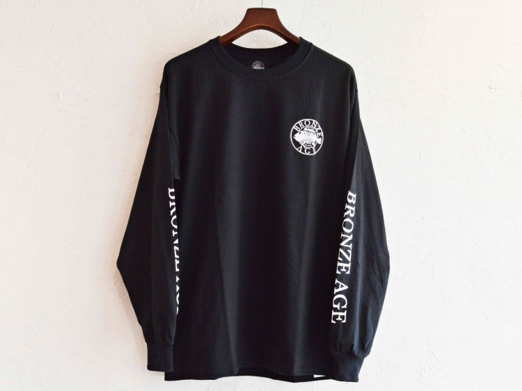 L/S TEE (SKULL FISH) 【BLACK】 / BRONZE AGE