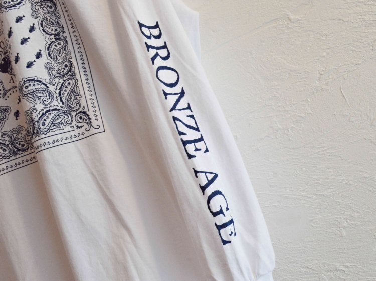 L/S TEE (BANDANA) 【WHITE】 / BRONZE AGE