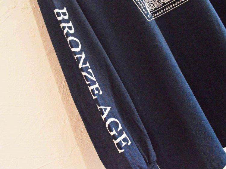 L/S TEE (BANDANA) 【NAVY】 / BRONZE AGE