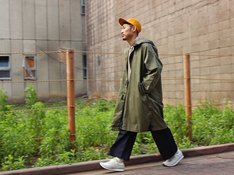 Side Open Hoodie 【Olive】 / YARMO ヤーモ