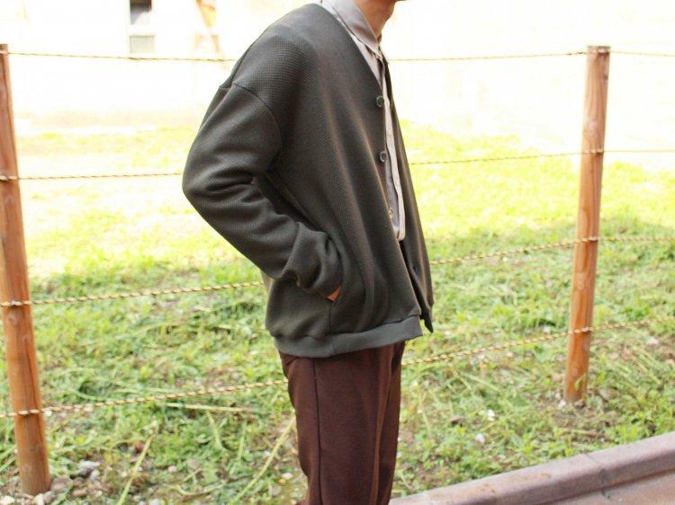 ローゲージストレッチカノコWフェイスカーディガン 【OLIVE】 / SPINNER BAIT