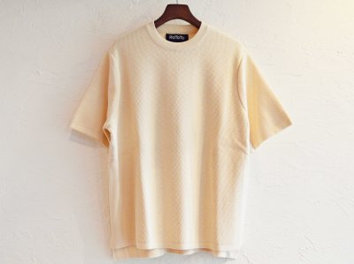COTTON THERMAL S/S KNIT 【IVORY】 / RoToTo<img class='new_mark_img2' src='https://img.shop-pro.jp/img/new/icons1.gif' style='border:none;display:inline;margin:0px;padding:0px;width:auto;' />